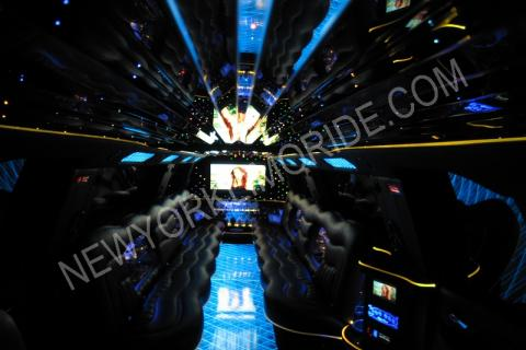 Cadillac Escalade limousine in New York for wedding