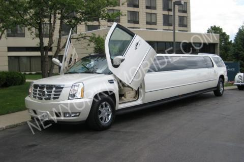 Cadillac Escalade limo in New York