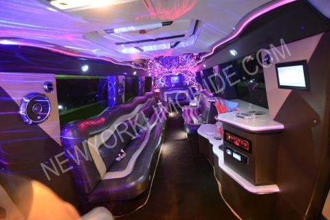 Range Rover limousine interior in NYC